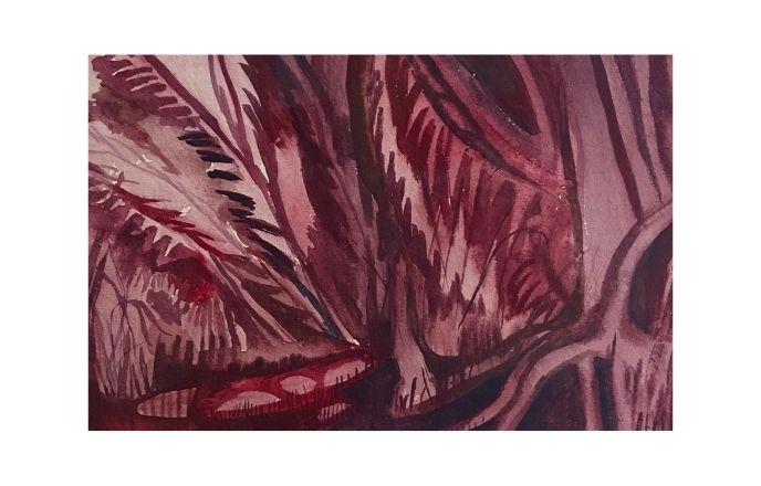 Lockdown Walk - Watercolour On Handmade Paper By Jasmine Mills