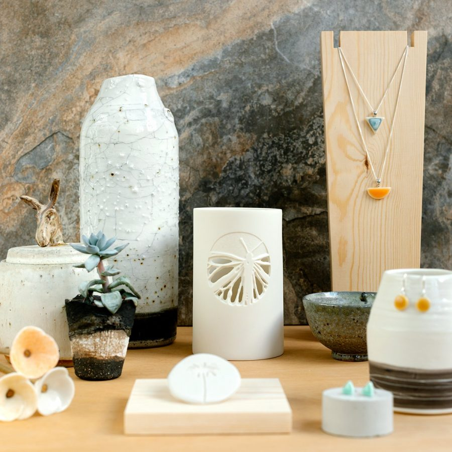 Group of ceramics at Inspire Makers