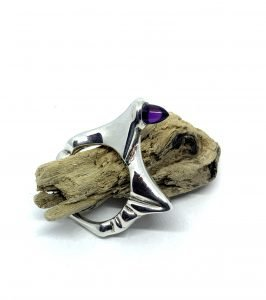 Wax Carved And Cast Sterling Silver Ring By TG Jewellery