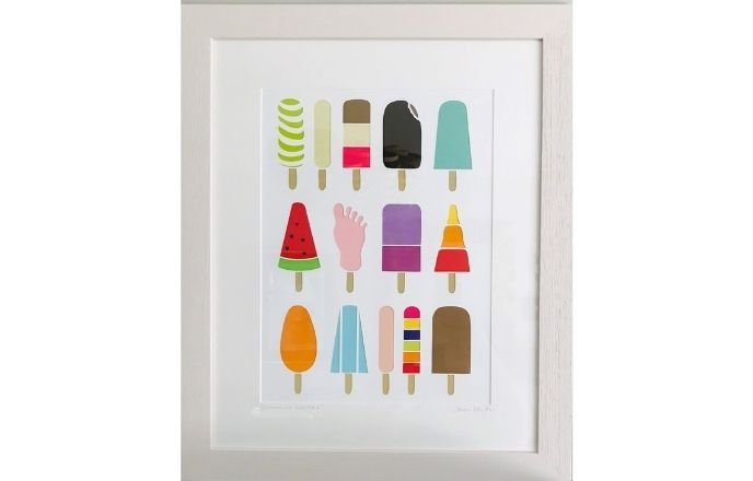 Group Of Ice Lollies Paper Cut Art By Debs Martin