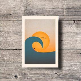 Overhead Wave Art Print